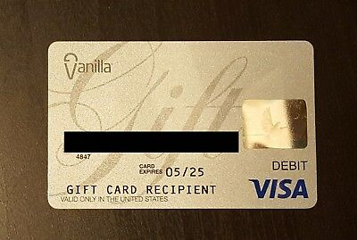 $500 Visa Card No Fees Activated Non-Reloadable Free Priority 1-3 Day Shipping