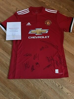 Signed Manchester United Shirt Team Squad Official