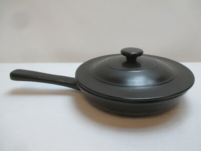 Longaberger Brand Flameware Skillet Ebony Black Cookware with Lid