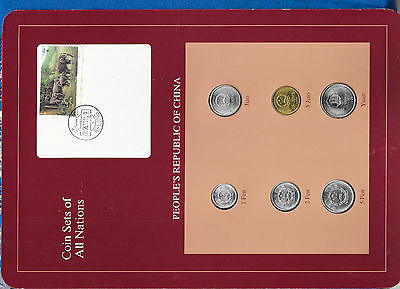 Coin Sets of All Nations China 1988-1995 UNC 2 Fen 1988 1,5 Fen 1991 95.11.10
