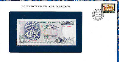 Banknotes of All Nations Greece 50 Drachmai 1978 P199 UNC Prefix 03Λ