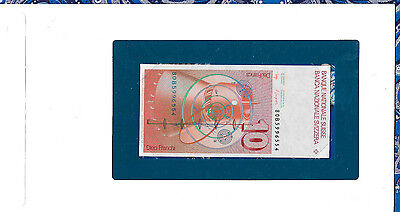 Banknotes of All Nations Switzerland 10 Franken 1980B P53b.2 UNC sign 53