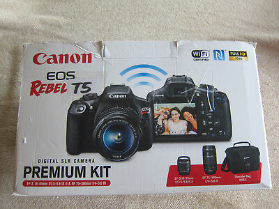 Canon EOS Rebel T5 18.0MP Digital SLR Bundle with 18-55 & 75-300 LENS - MINT