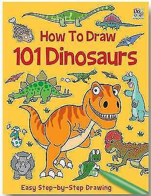 How To Draw 101 Dinosaurs by Barry Green Paperback NEW