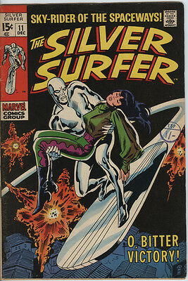 Silver Surfer Issue 11 From 1969  By John Buscema & Stan Lee Nice Silver Age