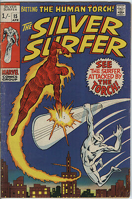 Silver Surfer (1st series) Issue 15 From 1970 Features The Human Torch from FF