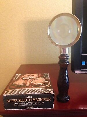Avon Super Sleuth Magnifying Glass Decanter - Everest after shave - 1979