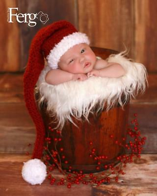 Newborn/Baby Crochet Santa Hat Photography Prop