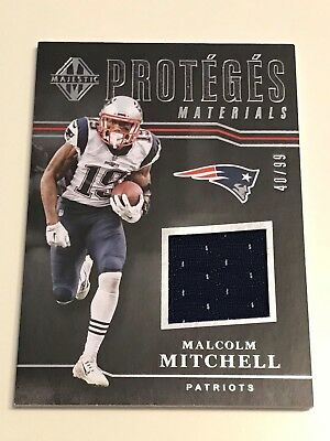 2017 Panini Majestic Malcolm Mitchell Proteges Materials Jersey /99 Patriots