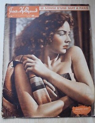 Paris Hollywood Cover Titelbild Jennifer Jones erotik erotica magazine vintage