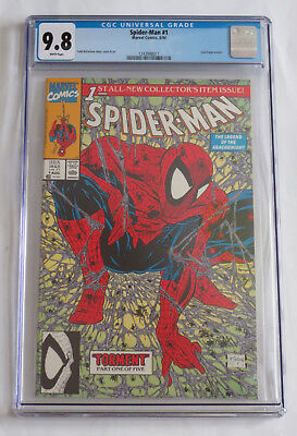 Spider-man 1 (1990) - CGC 9.8 NM White Pages - Todd McFarlane Cover