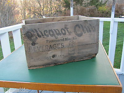 Vintage Wooden Clicquot Club Beverage Box Advertising Case