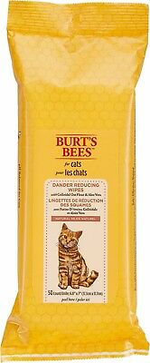 -NEW- Burt's Bees Dander Reducing Wipes for Cats (50ct) Free Shipping!!!