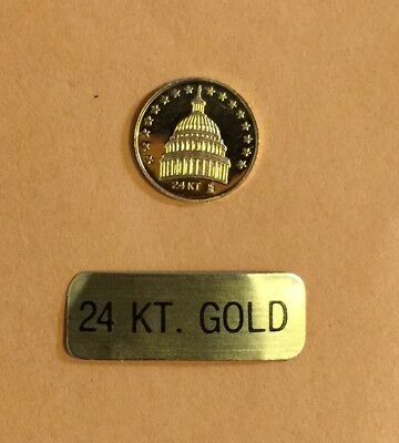 1981 PRESIDENT RONALD REAGAN  24k GOLD COIN With Original Box