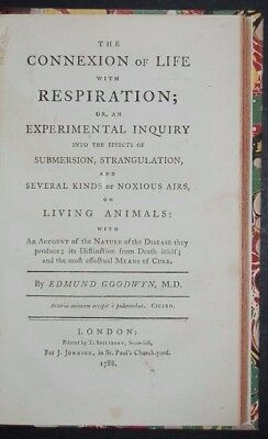 The Connexion of Life with Respiration, 1788