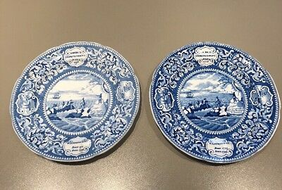 ANTIQUE ENOCH WOODS & SONS BURSLEM U.S. INDEPENDENCE COMMEMORATIVE PLATES 1920's
