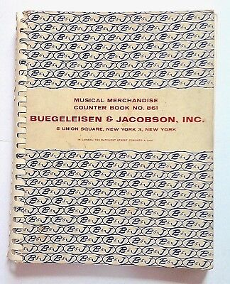 Buegeleisen & Jacobson, Inc. Musical Merchandise Dealer Counter Book No. 861