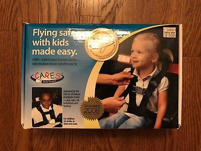 "Kids Fly Safe ""CARES"" Airplane Harness Toddler Child Flying Safety FAA Approved"