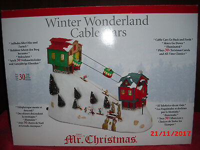 Mr. Christmas Winter Wonderland Cable Cars  Seilbahn + Skifahrer + 30 Lieder