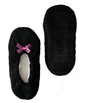 Boy Meets Girl Fuzzy Babba Slippers Black Small (5.5-7.5) S7800