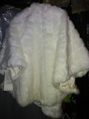 Scandinavian faux white fur one size fits all