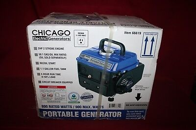 Chicago Electric Generator Portable 2 HP New
