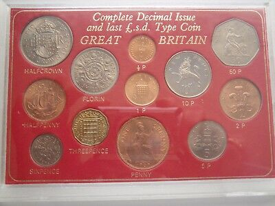 Great Britain Complete Decimal Issue and Pound Sterling Coin Set