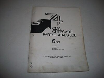 1974 Evinrude & Johnson 9.9 Hp Outboard Engine Illustrated  Parts Catalog