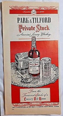 1946 PARK & TILFORD Private Stock Americas Luxury Whisky, Magazine ad. #288