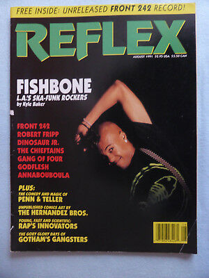 FRONT 242  REFLEX Aug. 1991 WITH UNRELEASED FRONT 242 RECORD!