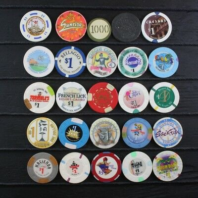 Casino/Poker Chips Las Vegas, Nevada and other Lot of 25