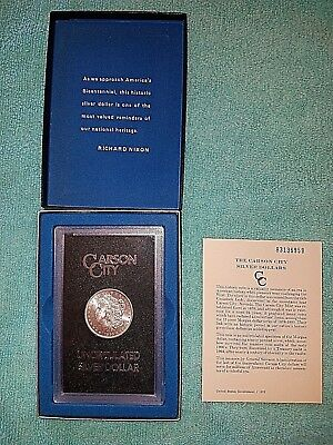 1883 CC Morgan Silver Dollar From GSA Hoard With Original Box & Papers