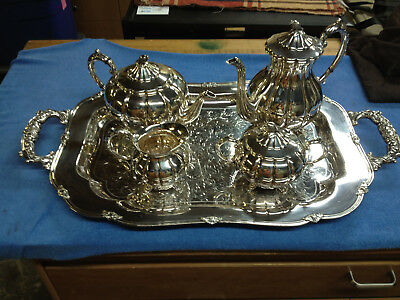 Sterling Silver Tea Set, .95 silver by Toshikazu, custom made in Japan, 1952
