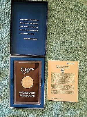 1884 CC Morgan Silver Dollar From GSA Hoard With Original Box & Papers