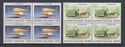 Finland 1988 -  SG1150/51 - Europa - 4 sets of 2  in MNH blocks of 4 - c/v £65