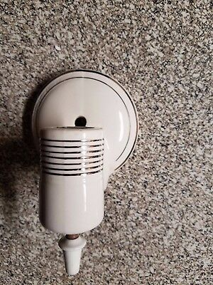 Vintage Ceramic White Porcelain Wall Sconce Old Art Deco Light Fixture w Finial