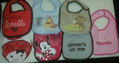 7 Baby Bibs bundle Good condition FREE SHIPPING - US seller