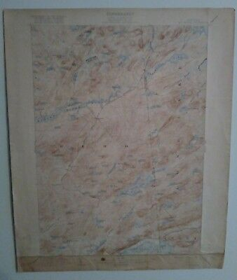 U.S. Geological Survey Map of New York, Big Moose Quadrangle from 1903 by...