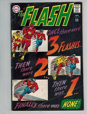 The Flash 173 w/ Golden Age and Kid Flash vs Golden Man!   1967 DC Comics Good