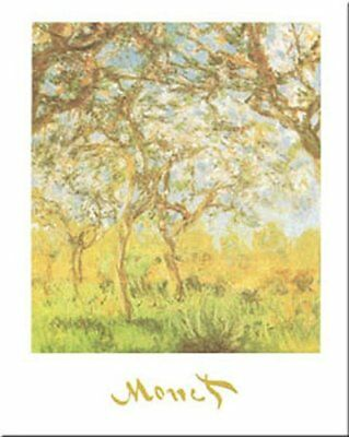 The Springtime by Claude Monet 20x16 Museum Art Print Poster Flowering Trees