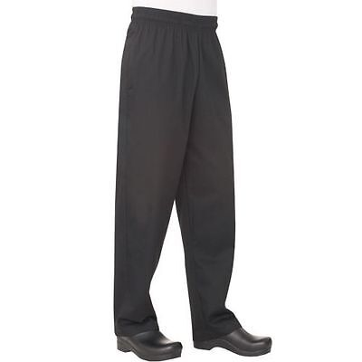 Chef Works Basic Baggy Chef Pants Black Size XS - Poly and Cotton #NBBP000XS