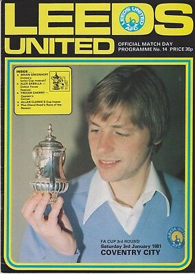 LEEDS UNITED v COVENTRY CITY FA CUP 1980/81