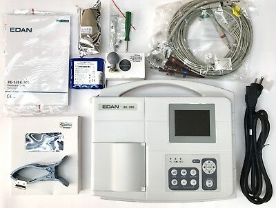 Edan SE-300B ECG 3 CHANNEL WIDE COLOR SCREEN Electrocardiograph - FDA Approved