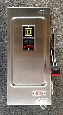 Square D Heavy Duty Safety Switch HU-361-DSEI Stainless Steel 30 Amps HU361DSEI