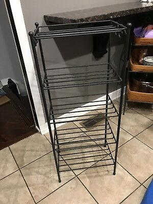 """Longaberger Wrought Iron 5-Tier Stand 38"""" H"""
