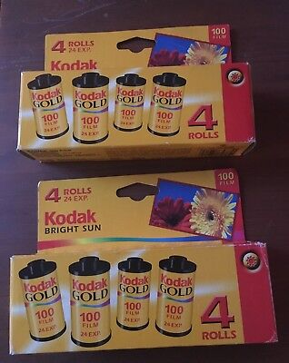 KODAK GOLD 100 35mm COLOR FILM 24 exp (8) Rolls each Expired 01/2006