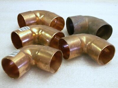 "5 Nibco 1 1/2"" Copper Elbows Pressure 90 Degree Ell Solder Sweat Fittings (CU18)"