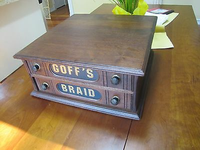 Goff's Braid Spool Cabinet Refinished  Great Condition