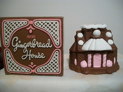 Avon Gingerbread House Frankincense & Myrrh Fragranced Candle Christmas Deco