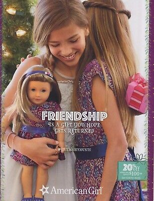 American Girl Friendship Catalog November 2017